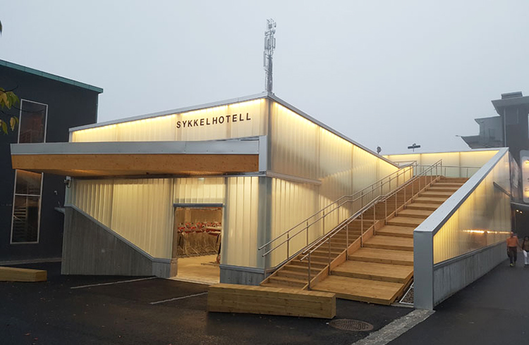 The bicycle hotel in Lillestrøm.