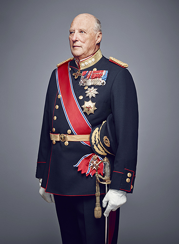 Portrait of King Harald.