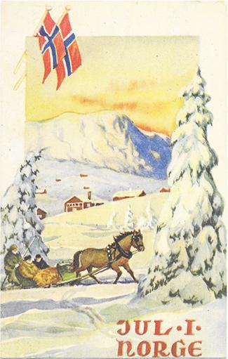 Jul vintage postcard