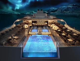 Hurtigruten hybrid ships: observation deck