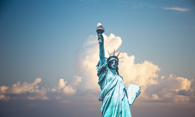 Symbol of immigration: Statue of Liberty