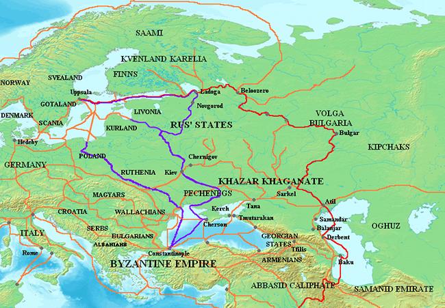 Varangian trade routes