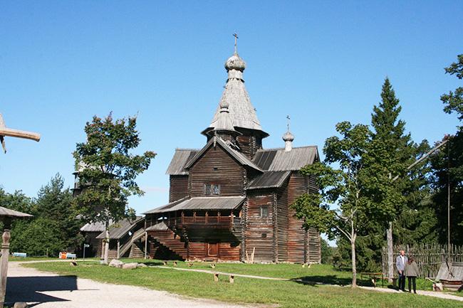 wooden Russian church