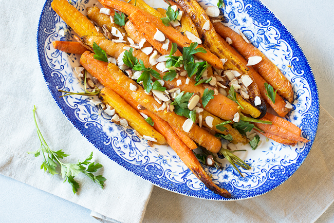 Citrus-roasted carrots