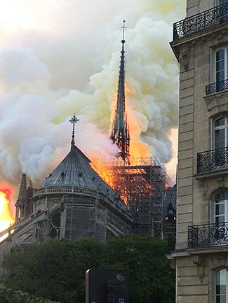 Notre Dame spire