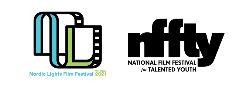 The logos for the Nordic Lights Film Festival and the National Film Festival for Talented Youth