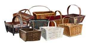 a collection of Knutkorg baskets