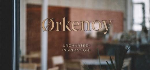 "A door sign that reads, ""Ørkenoy: Uncharted Inspiration"""