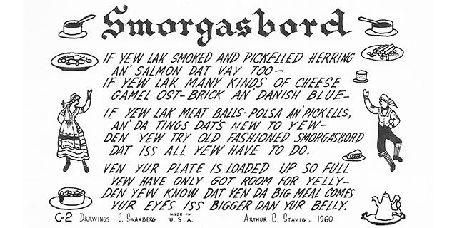 smorgasbord recipe in Swedish-English