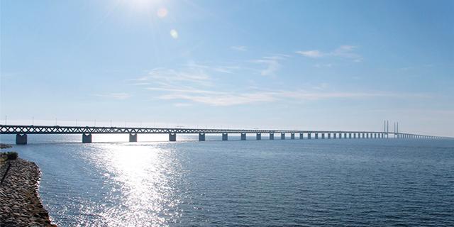 The Öresund Bridge that connects Sweden and Denmark