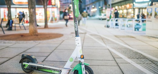 an electric scooter in Oslo