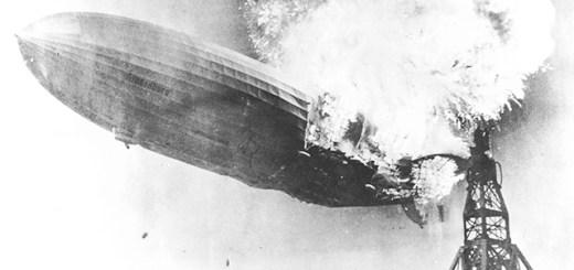 The Hindenburg aloft and afire