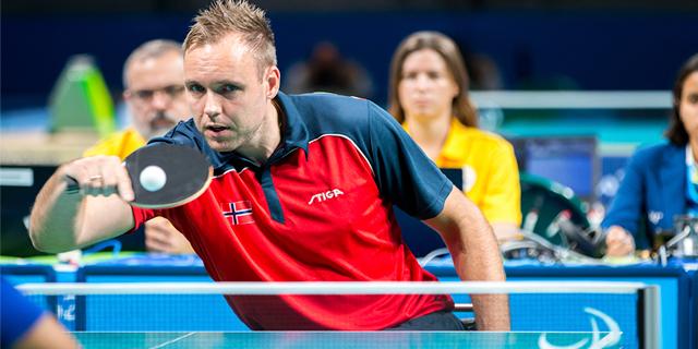 TommyUrhaug is on the Norwegian Paralympic table tennis team