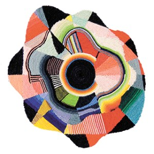 a roselike woven piece by Sissel Blystad