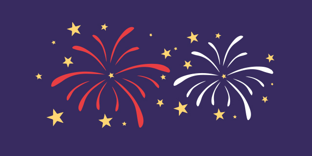 animated fireworks for summer