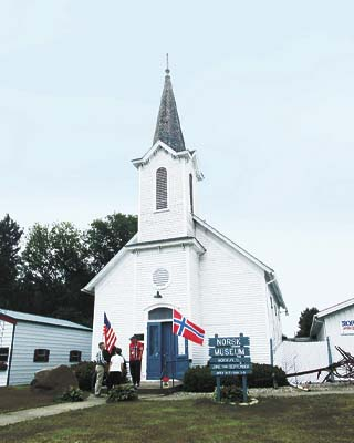 Old Hauge Lutheran Church, the home of the Norsk Museum