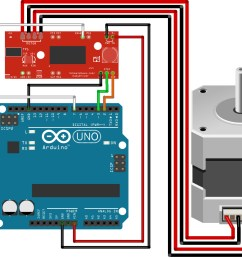 the wiretable for arduino easydriver stepper motor tutorial [ 1524 x 1157 Pixel ]