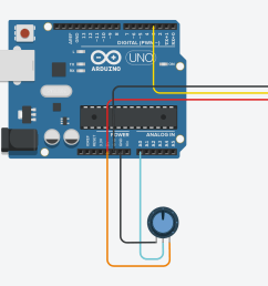 a very simple circuit in tc with only a potentiometer and a servo hooked up to an arduino uno the arduino code interface can be viewed further down  [ 2560 x 1217 Pixel ]