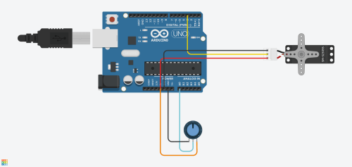 small resolution of a very simple circuit in tc with only a potentiometer and a servo hooked up to an arduino uno the arduino code interface can be viewed further down