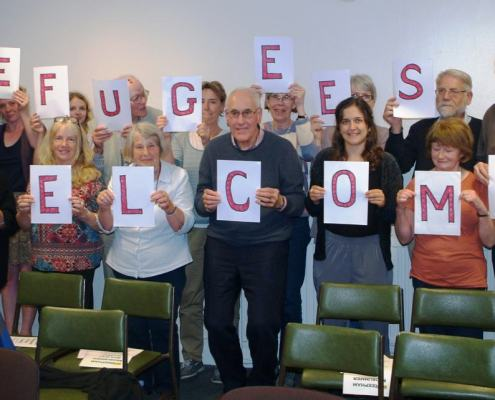 Norwich Amnesty showing support for Refugees