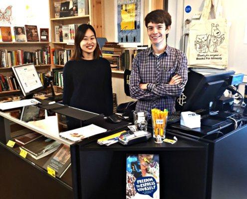 amnesty bookshop norwich interior