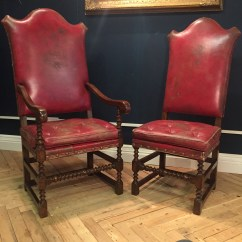 Distressed Leather Dining Chairs Uk Posture Chair And Ottoman Pair Of Red Dinning Norwich Norfolk