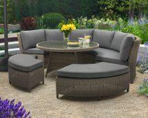 Pursuit Circular Outdoor Wicker Rattan Sofa Set