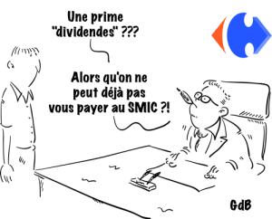 dessin humoristique sur dividendes