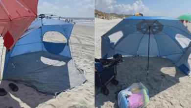 خلاف على مواصفات خيمة يحرم أسرة طفل معاق من التمتع بالبحر