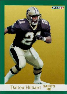 Dalton Hilliard New Orleans Saints 1991 Fleer Card
