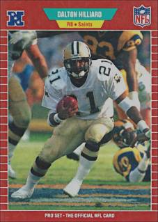 Dalton Hilliard 1989 Pro Set Football Card