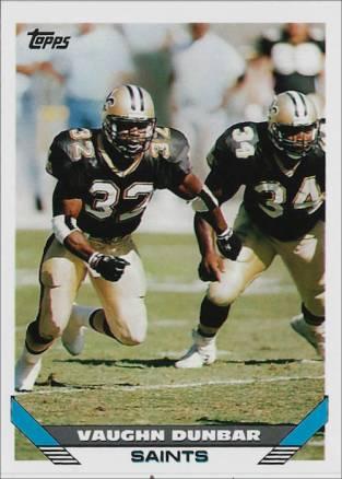 Vaughn Dunbar 1993 New Orleans Saints Topps Football Card