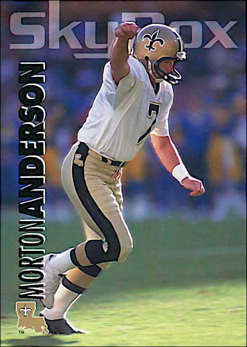 Morton Andersen 1993 New Orleans Saints Skybox Impact Football Card #207