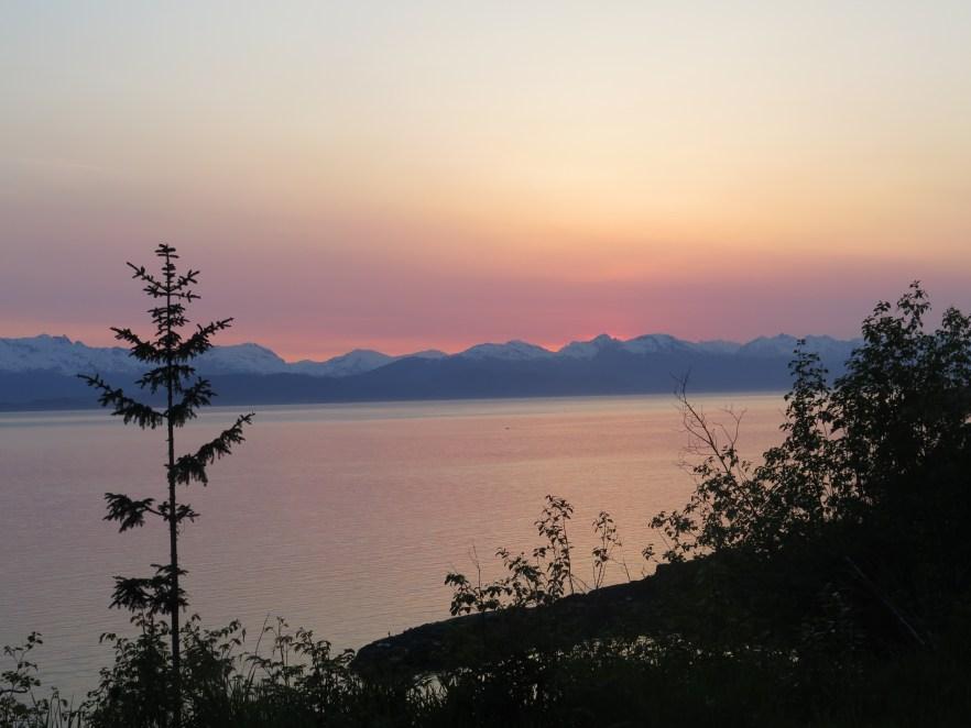 Sunset in Juneau Alaska