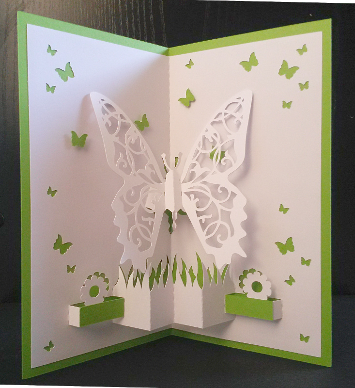 Une carte pop-up Papillons