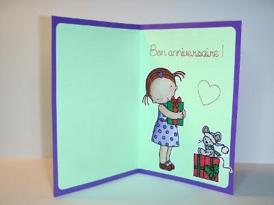 Une carte d'anniversaire (CA-1)