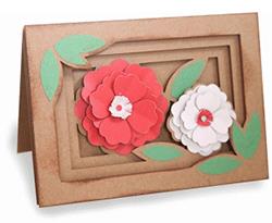 spring flowers shadow box #76550 250