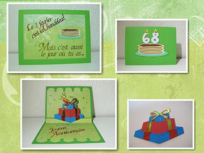 Carte anniversaire Cadeaux en popup - pele-mele