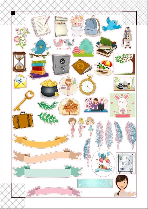 Des stickers pour illustrer votre bullet journal / planner / agenda...