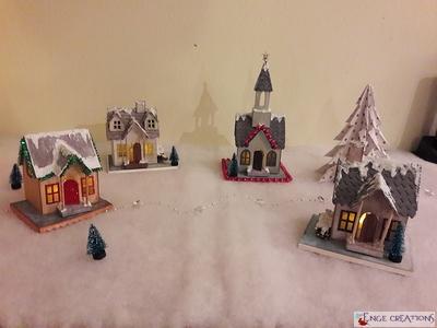 Décoration de Noël : un village sous la neige