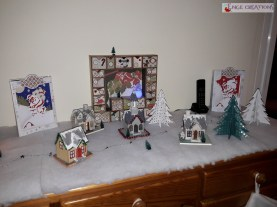 Décoration - Village de Noël en papier scrap