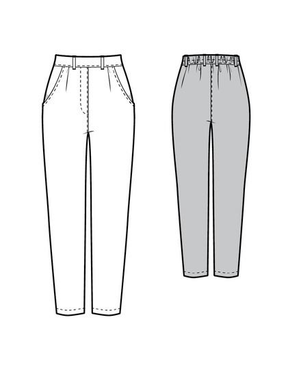 Pantalon Juniper dessin technique