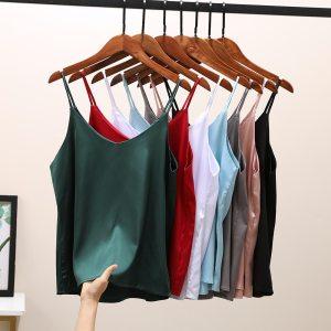 2021 Women Sexy Crop Tops Silk Tube Top Female Sleeveless Camis Seamless Sports Lingerie Tee Bra Crop Top Bandeau Top Tank Sling 1