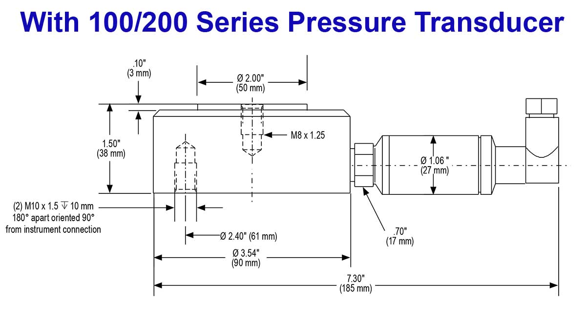 hight resolution of  with 100 200 series pressure transducer