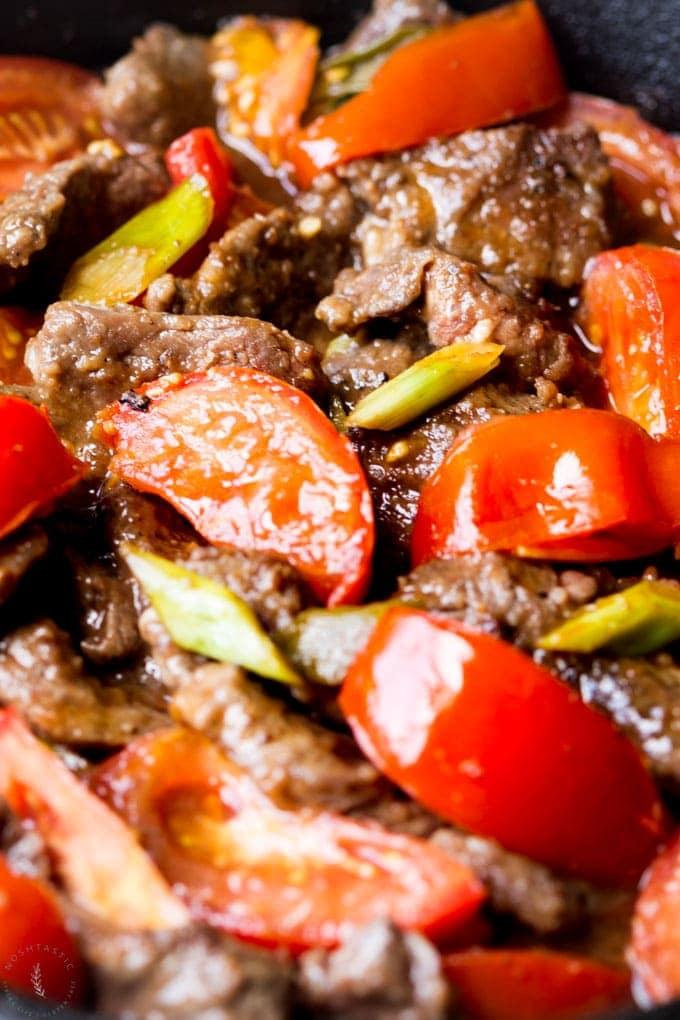 Chinese Beef and Tomato - Noshtastic