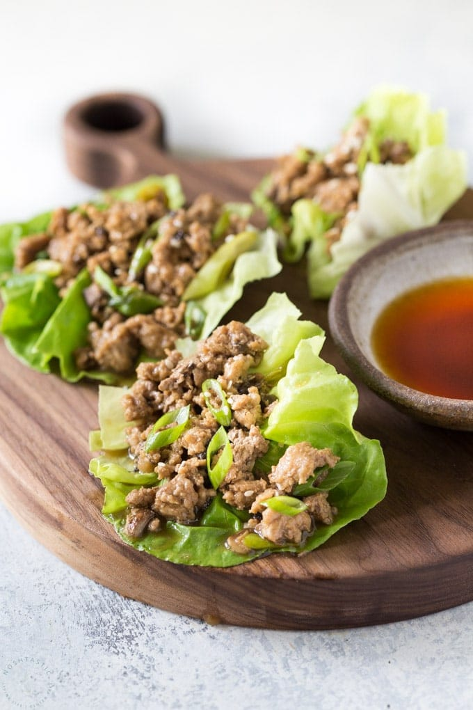 Keto Low Carb Chicken Lettuce Wraps