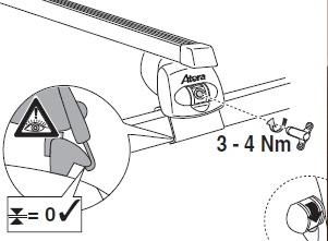 Střešní nosiče/ příčníky ATERA Nissan Pathfinder, 5-dr SUV