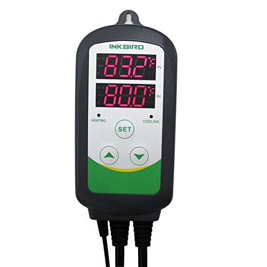 Inkbird temperature controller for hydroponic grow room