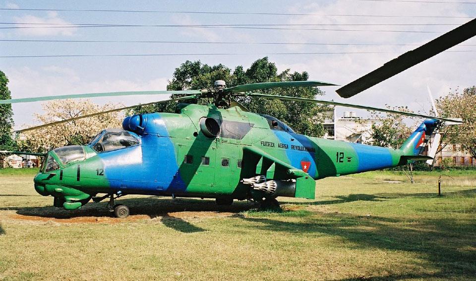 O helicóptero de ataque Mi-24 já está aposentado em Cuba