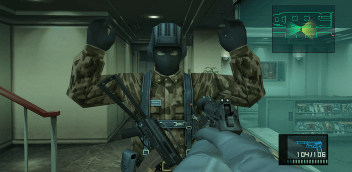 MGS2 sur Playstation 2